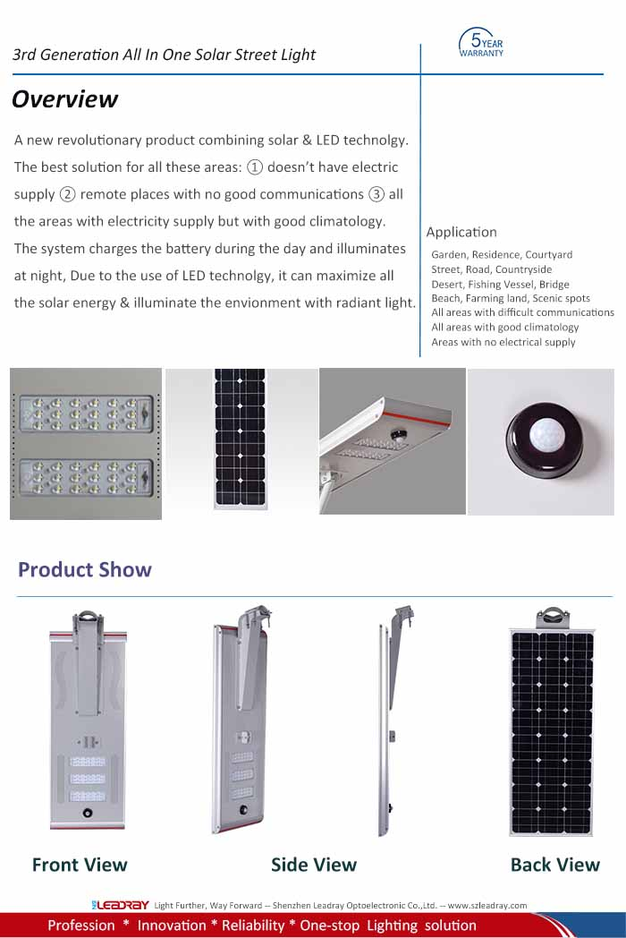 60 watt solar led light
