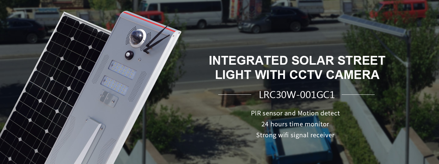 30w integrated solar street light with CCTV camera suppliers